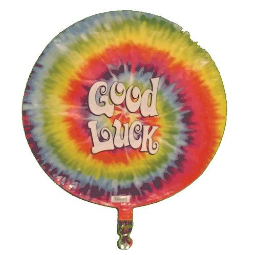"Good Luck Tie Dye Colour Burst Balloon 18"""