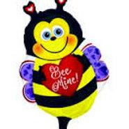 "Bee Mine Bee with Heart Balloon 22"""""