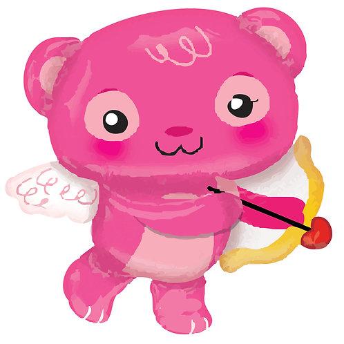 "Jumbo Cupid Bear Balloon 30"""