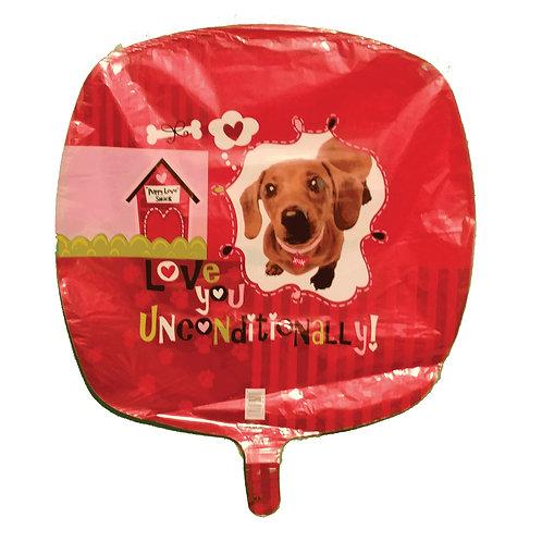 "I Love You Unconditionally Daschund Balloon 18"""