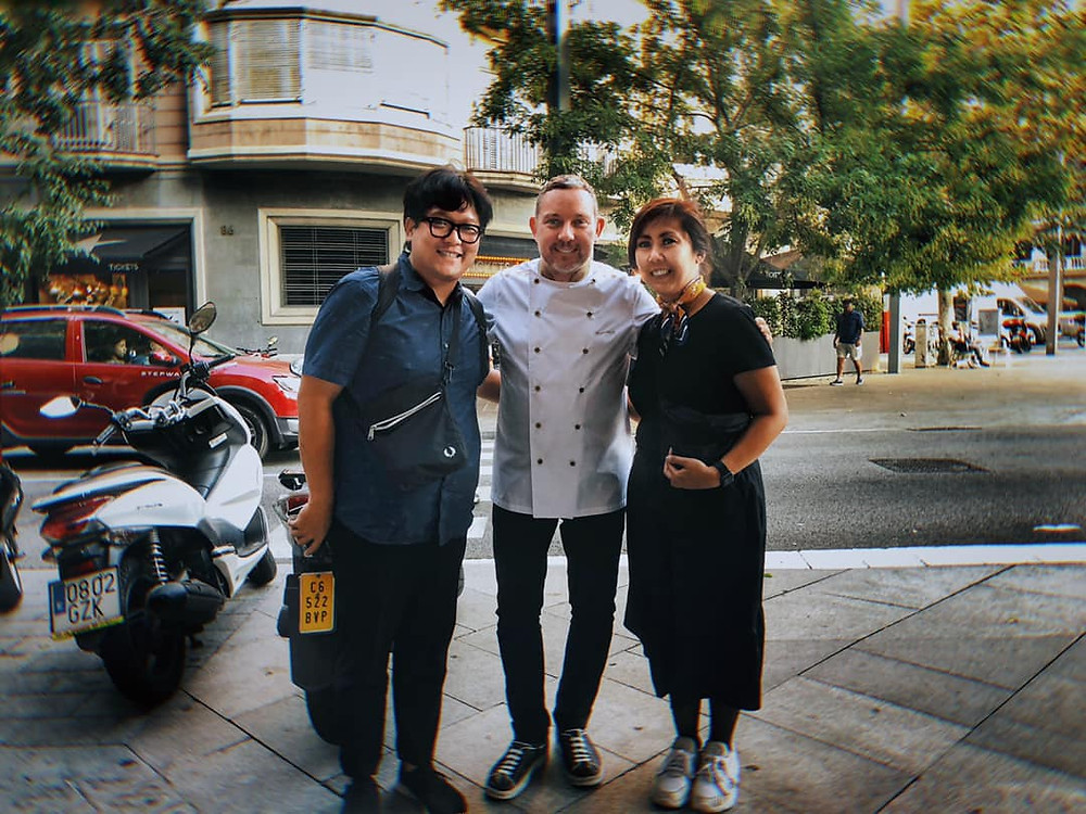 With the legendary Albert Adria of El Bulli, Bodega 1900, and Tickets fame. This man, with his brother Feran, changed gastronomy forever.