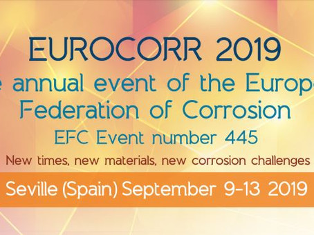 EUROCORR 2019 - The annual event of the European Federation of Corrosion