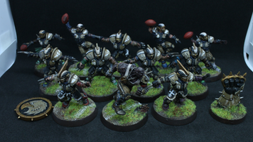 Blood Bowl. Human Team. Black/White/Brown