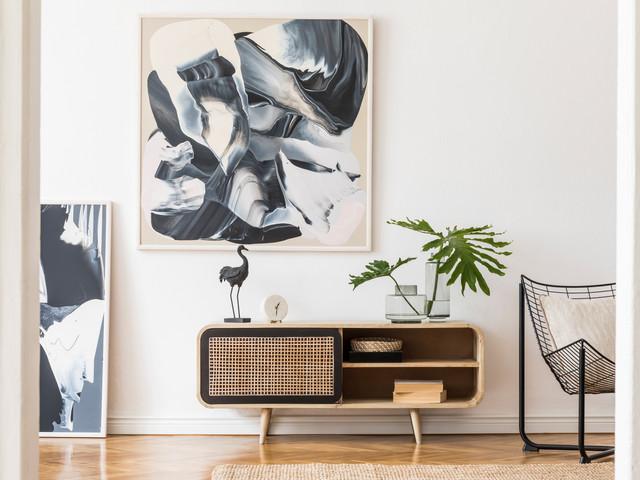 Modern design home interior of living ro