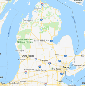 Map of Michigan Drainfield Service Area