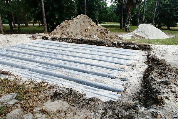 Drain field installation
