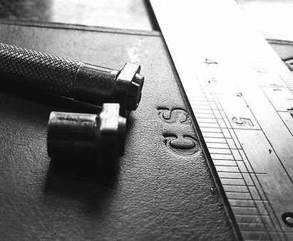 Embossing a custom leather product