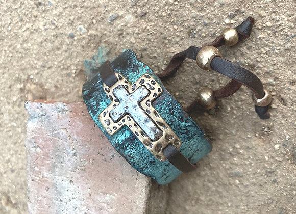 Cross Patina Cuff