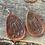 Thumbnail: Leather Earrings- Sunflower- dark finish