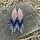 Thumbnail: Pink and Navy Blue Earrings