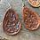 Thumbnail: Leather Floral Earrings- dark finish