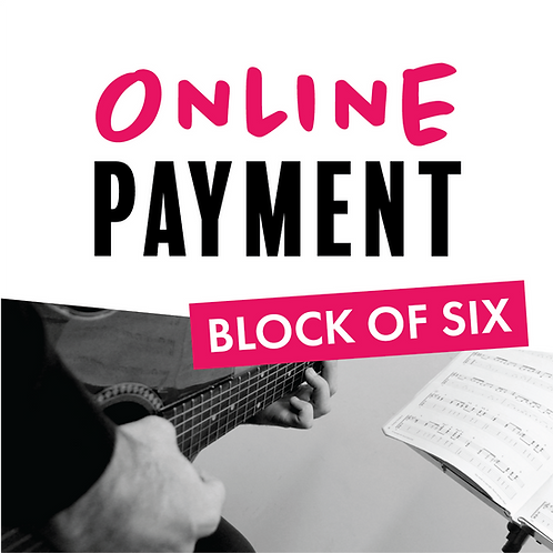 Online Payment - Block of 6 Lessons