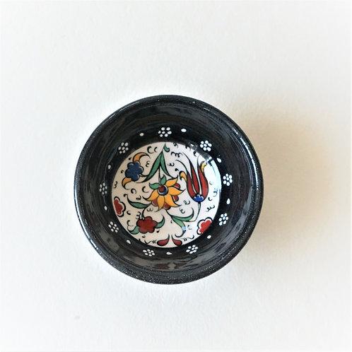 Black floral bowl
