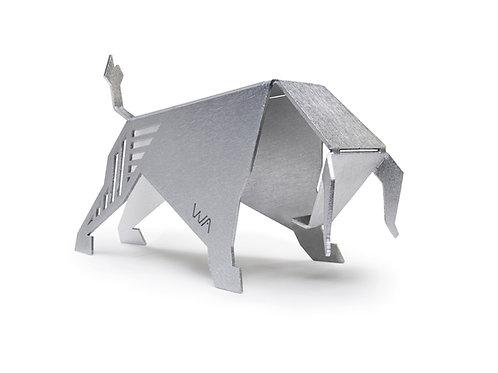 Metal Origami Bull