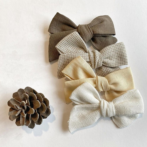 Handmade Cotton Bows- 2 set