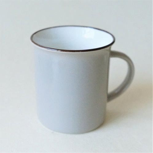 Grey ceramic mug