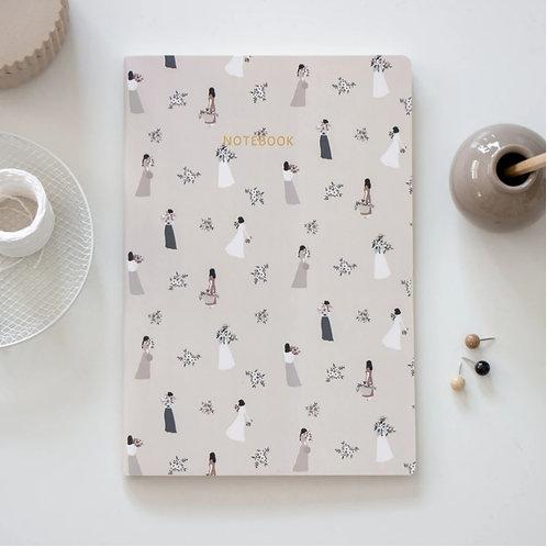 Flower ladies notebook