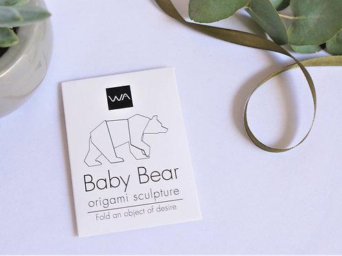 אוריגמי בצורת גור דוב