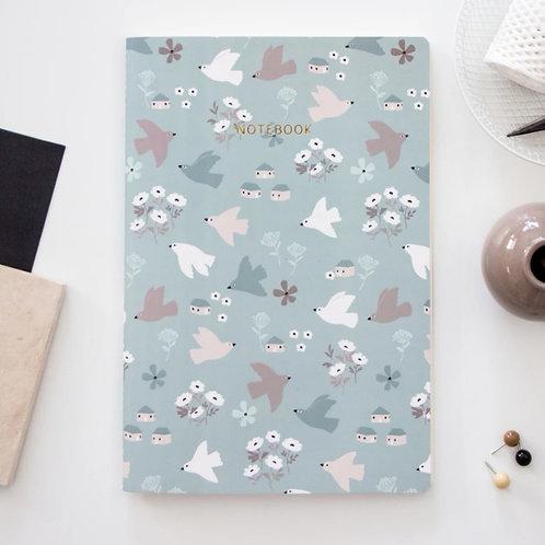 Spring birds notebook