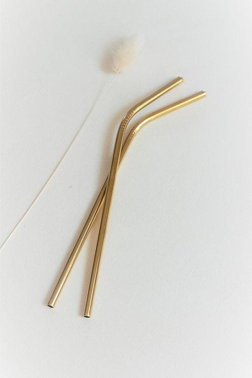 Gold-Metal Straw