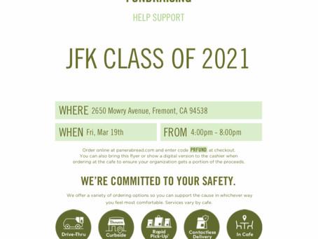 Class of 2021 Panera Fundraiser