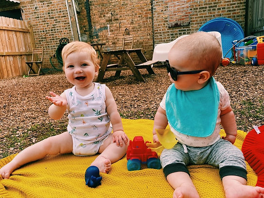 Cute Baby Play Outdoor Play Coworking Childcare