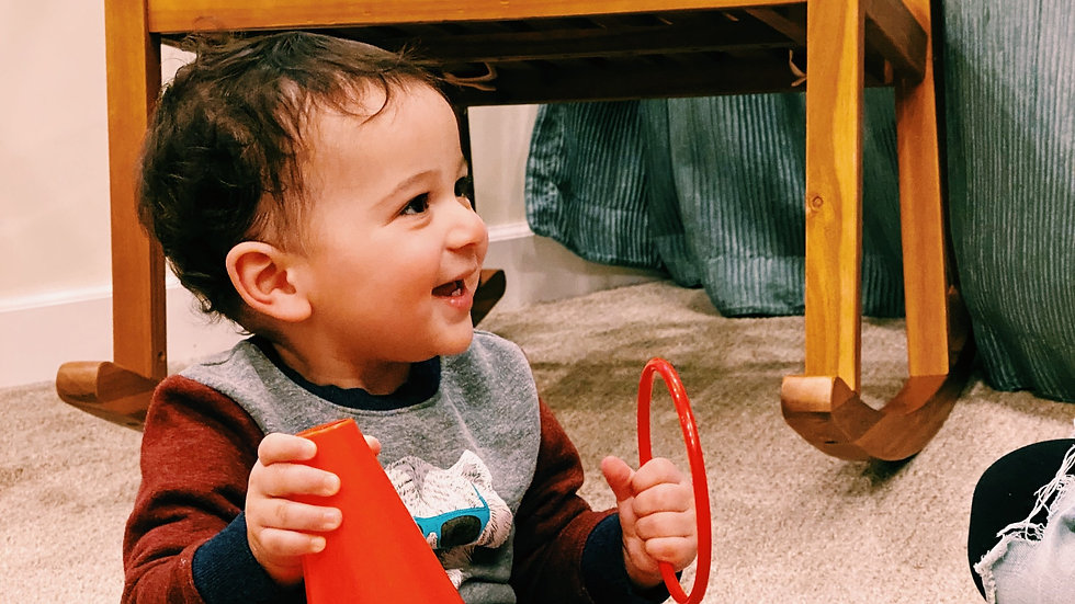 Cute Baby Playing coworking and childcare