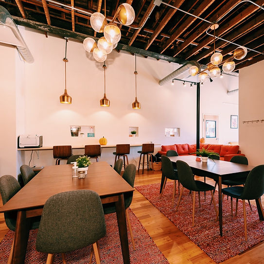 Coworking and Childcare general seating