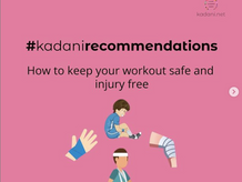#kadanirecommendations on Injury Prevention