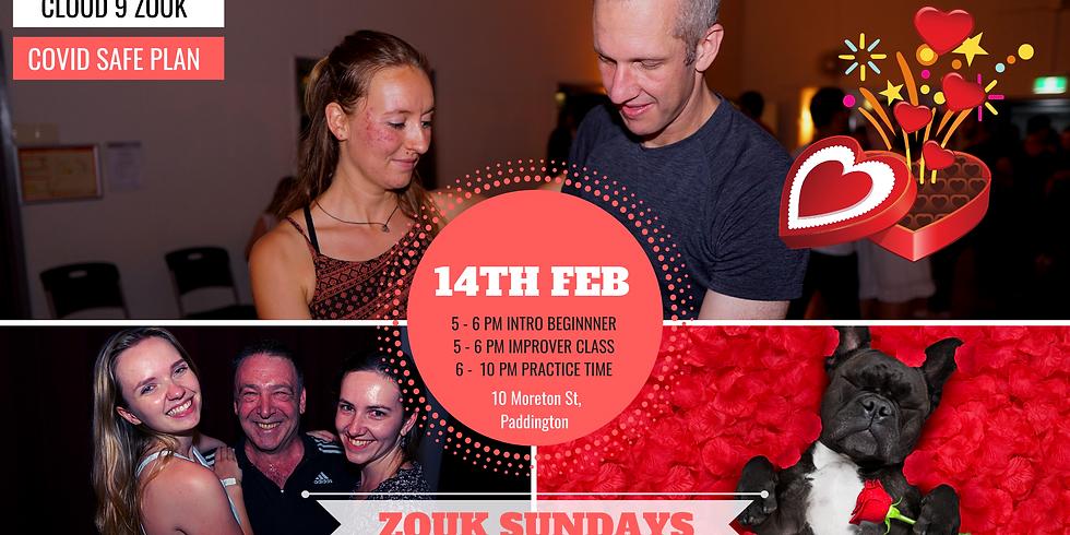 Zouk Sundays & Practica   Valentine Edition