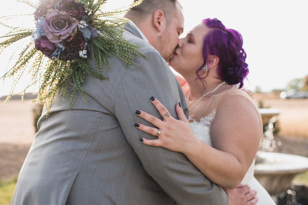white diamond lavender farm fall wedding