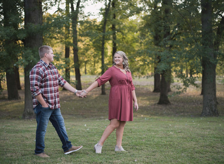 Golden Fall Engagement at Mill Race Park