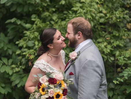 First Christian Church wedding and Spring Mill Reception