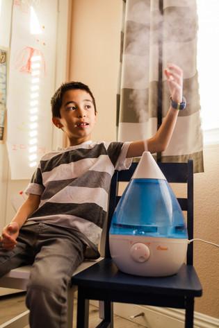Boy with a Crane humidifier