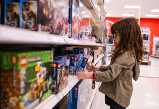 Girl at Target in lego aisle | 365 project