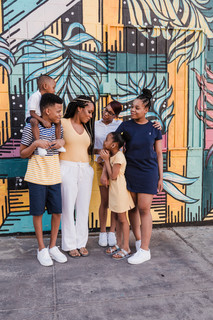 Family photography in downtown Las Vegas