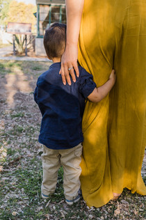 Quiet moments between mother and son