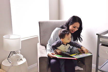 In home Mommy and me photoshoot in a nursery in Las Vegas by Jennifer Hyman Photography