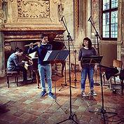 Trio Torello recording session