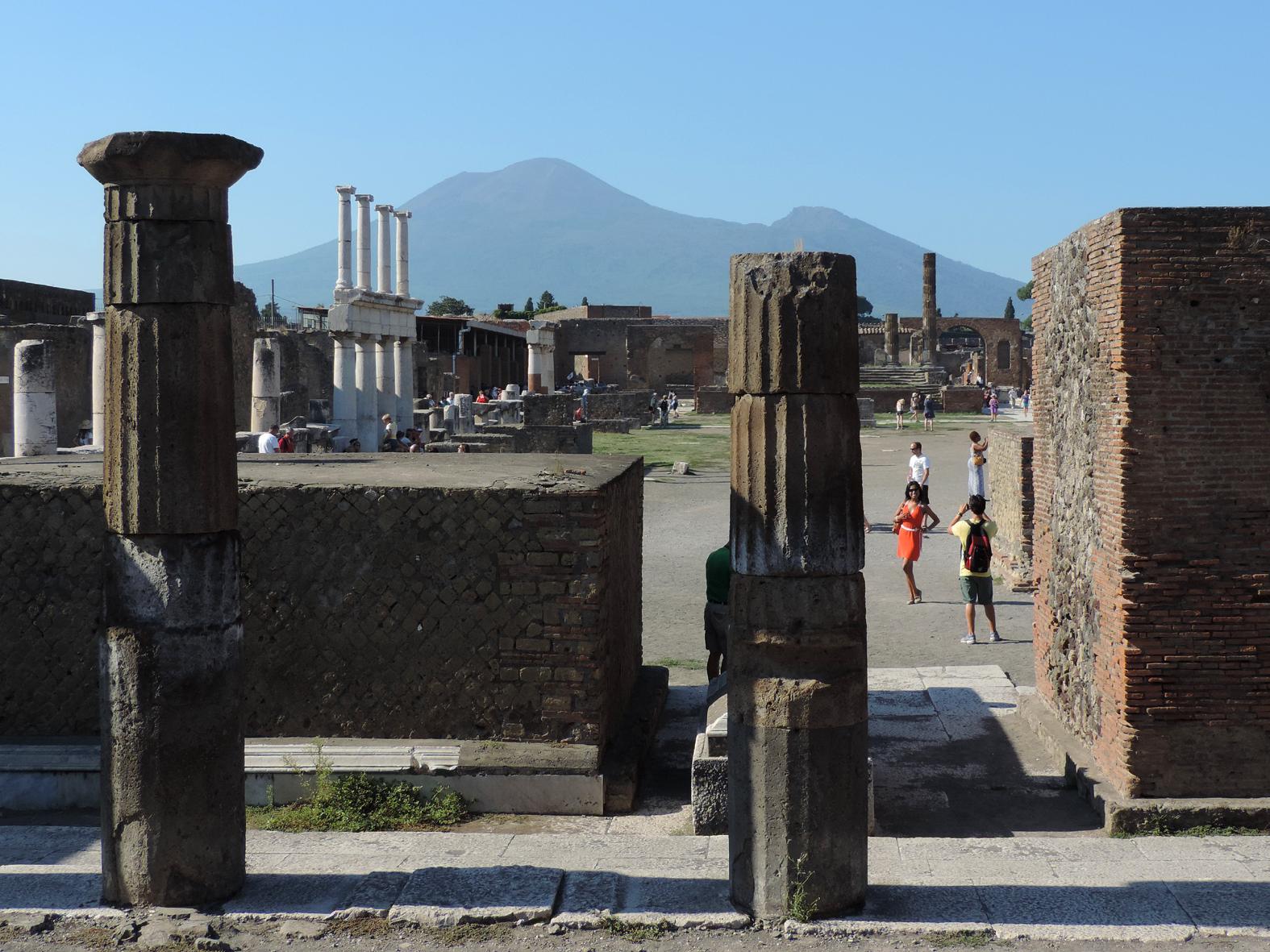 Posing Amongst The Ruins, Pompeii