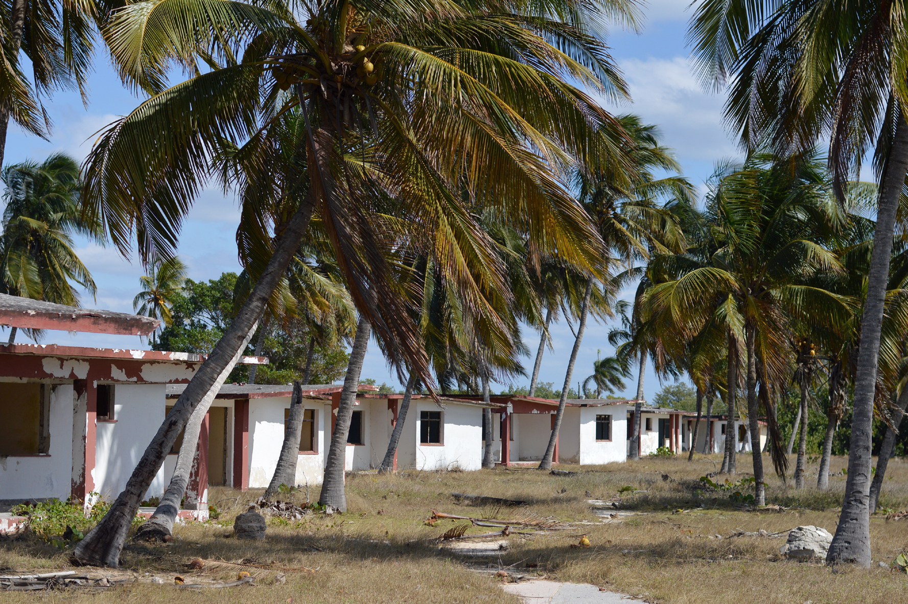 Derolict Bungalows By The Beach