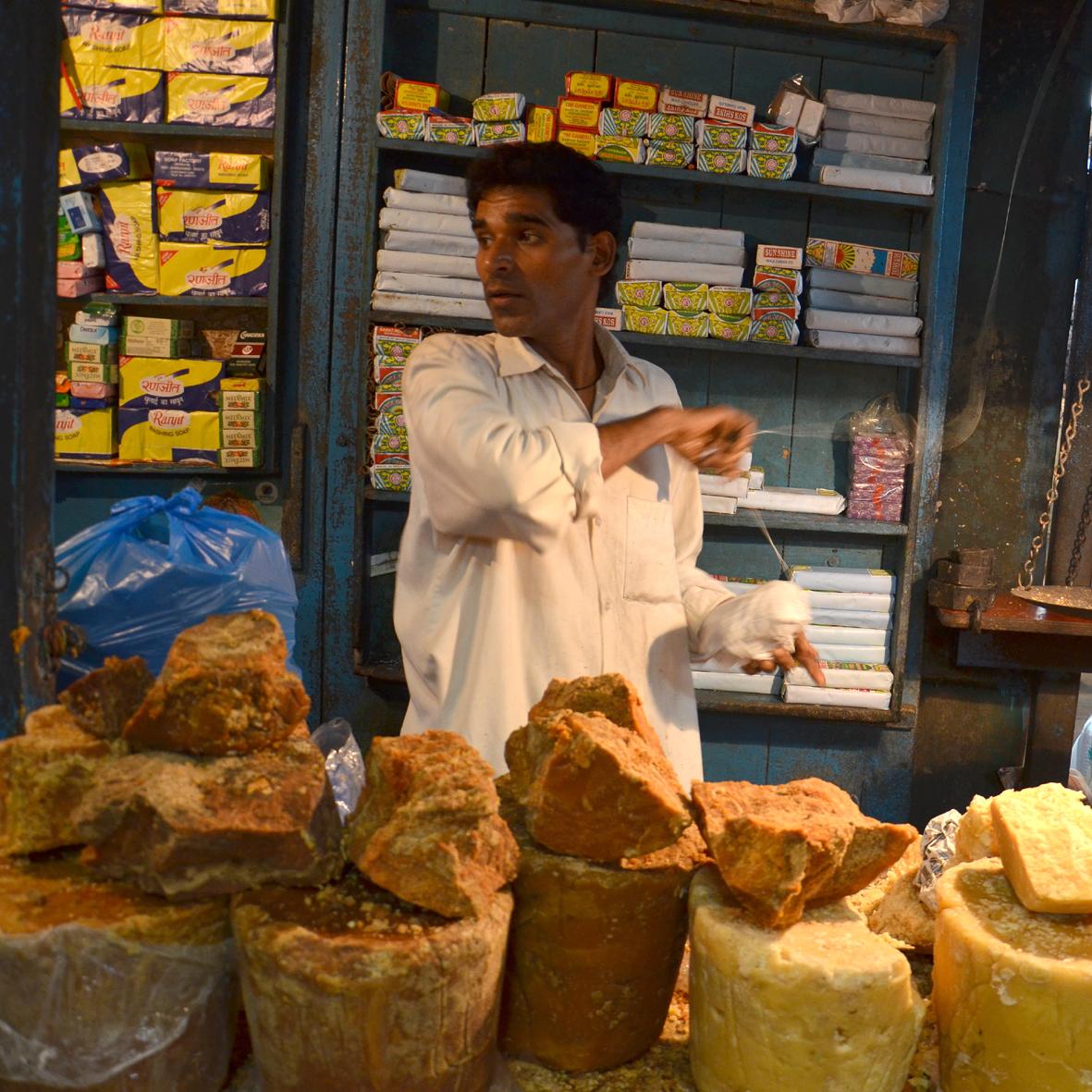 Selling Blocks of Spice, Margao
