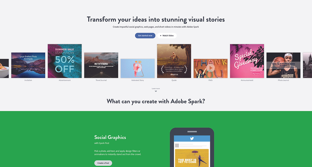 adobe spark digital Marketing trends love that media