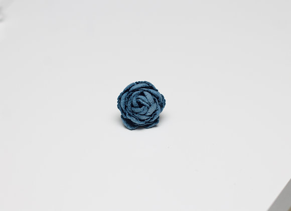 Small Cerulean Blue Flower Pin