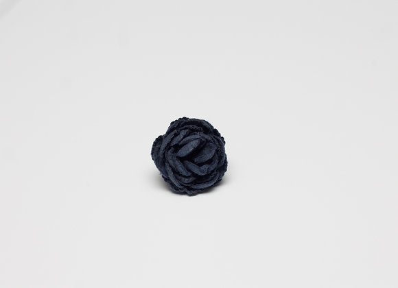 Small Oxford Blue Flower Pin