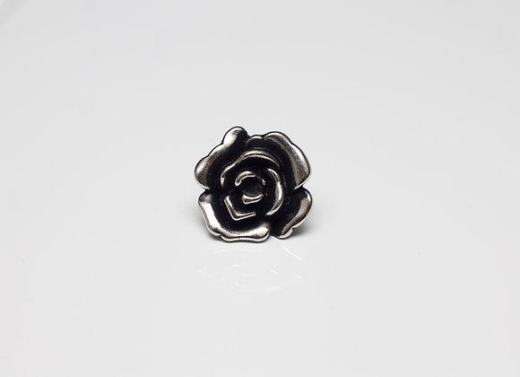 Metallic Flower Pin