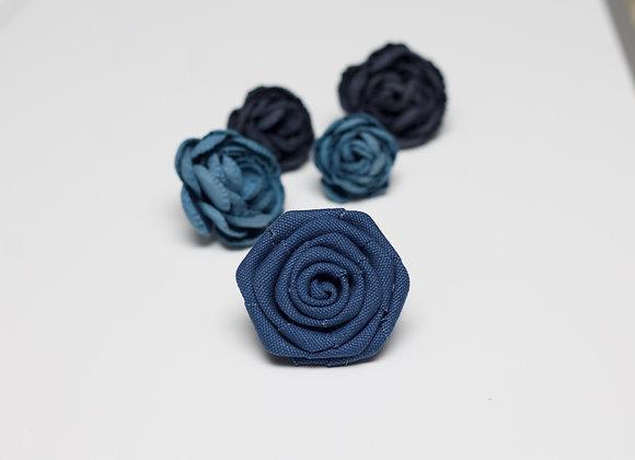 Large Cadet Blue Flower Pin