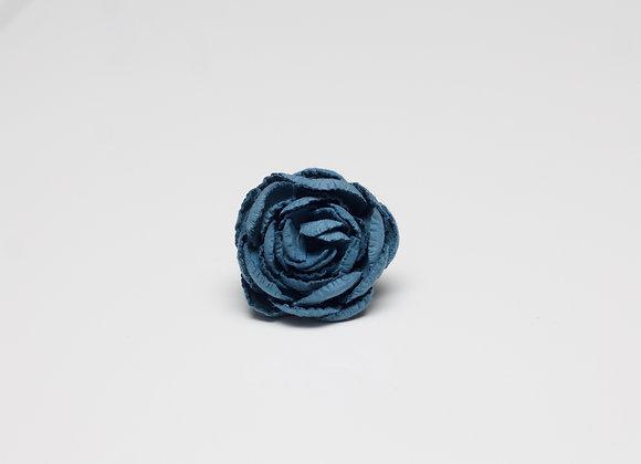 Medium Ceulean Blue Flower Pin