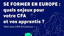 """Replay : """"Se former en Europe : quels enjeux pour votre CFA et vos apprentis ?"""""""