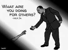 """What are you doing for others?"""